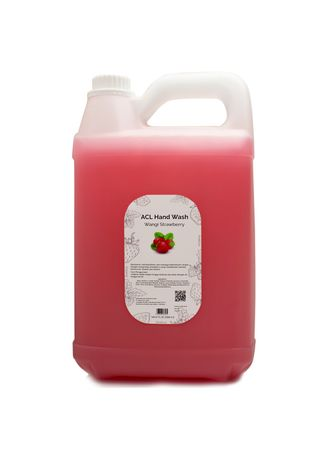 Merah Muda color Sabun Cair & Pembersih . ACL Hand Wash - Strawberry 5L -