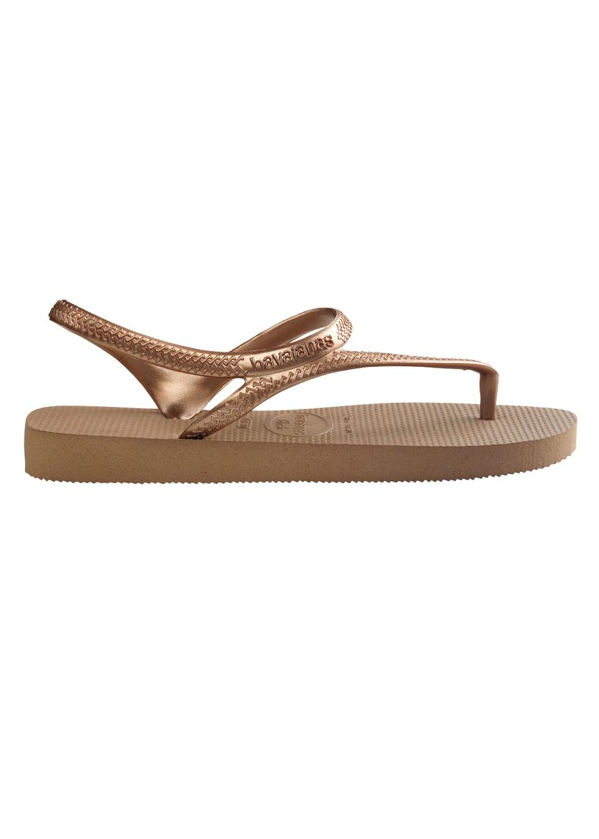 Gold color Sandals and Slippers . Havaianas Flash Urban Sandals - Rose Gold -