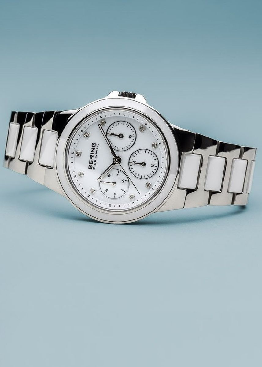 White color Chronographs . Ceramic White 35 mm Women's Watch -