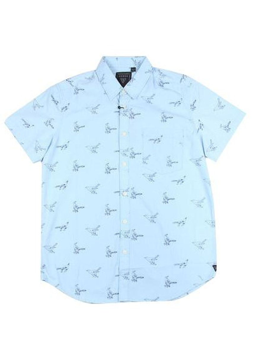Light Blue color Formal Shirts . Guess Men's Short Sleeve Polo -