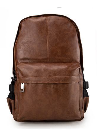 Tan color Backpacks . Urban State - Distressed Leather Mesh Backpack -