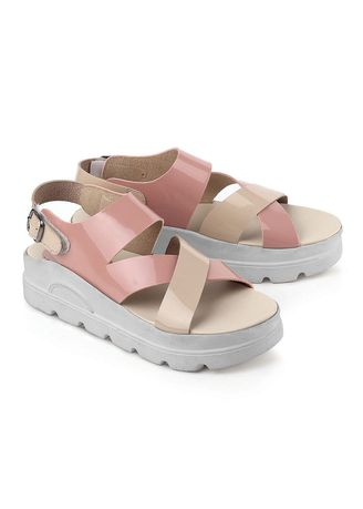 Beige color Sandals and Slippers . Blackkelly Sandal Wedges Tali Wanita - KREPNK -