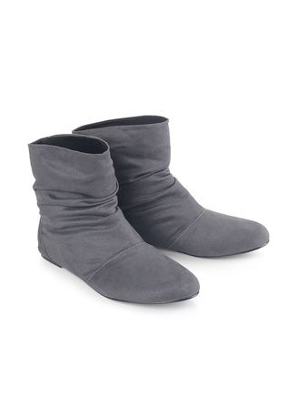 Light Grey color Boots . Blackkelly Sepatu Slip on Boot Wanita - Grey -
