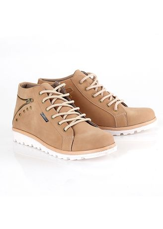 Brown color Boots . Blackkelly Sepatu Sneakers Boots Casual Wanita - Brown -