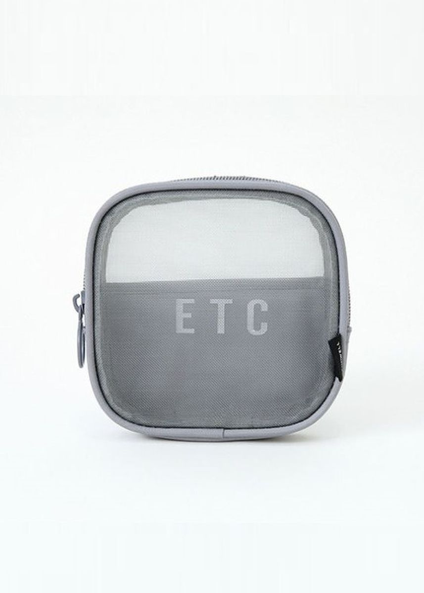 Grey color Travel Wallets & Organizers . New Travel Mesh Breathable Toiletry Bag (Small) -
