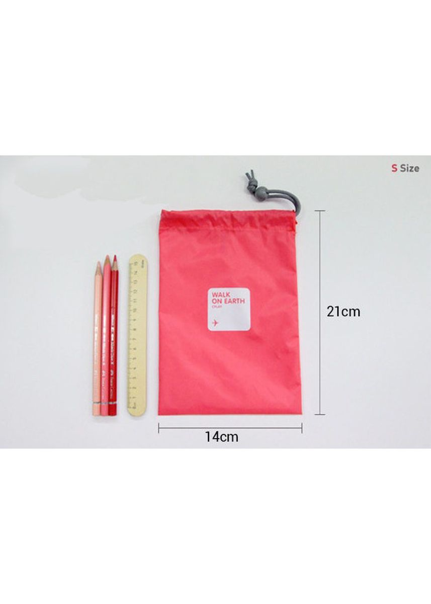 Red color Travel Wallets & Organizers . Travel Packing Organizer Bags 4 pcs Set -
