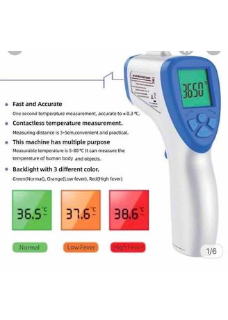 Tidak Berwarna color Krim & Minyak Bayi . Termometer Gun Digital Infrared mode IT122 -