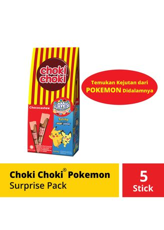 Tidak Berwarna color Cokelat & Permen . Choki Choki Pokemon Surprise Pack -
