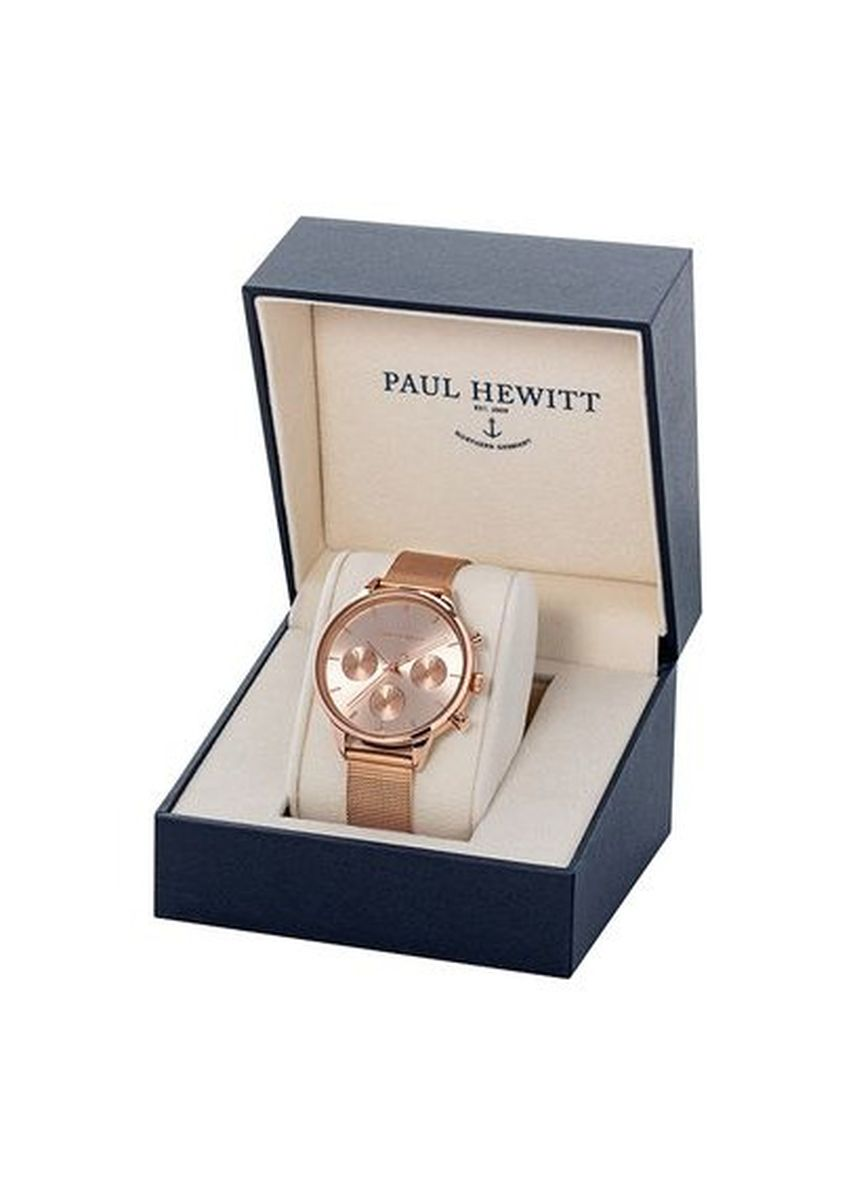 Gold color Chronographs . Paul Hewitt Everpulse Line Rose Gold 38mm Women's Watch PH-E-R-RS-4S -