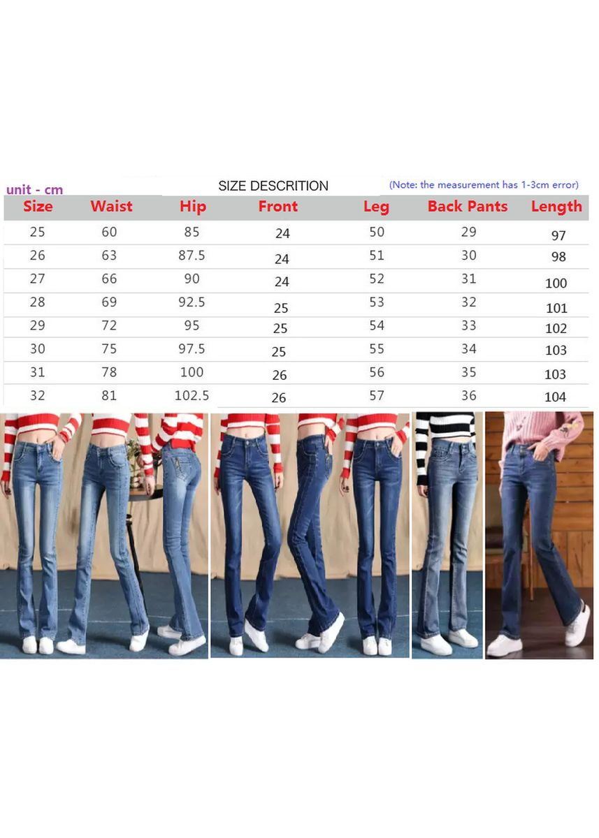 Light Blue color Jeans . Women Spring Loose Edge Contrast Straight Long Jeans   -