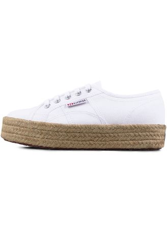 White color Casual Shoes . Superga 2730 Espadrille in White -