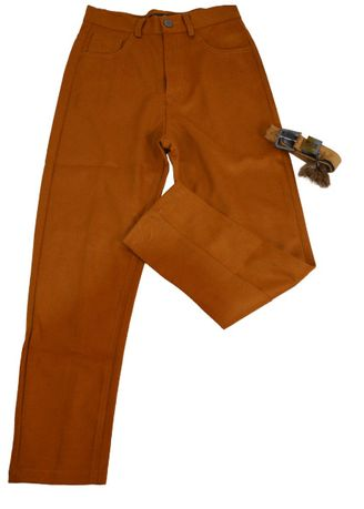 Brown color Trousers . Celana Panjang Denim -