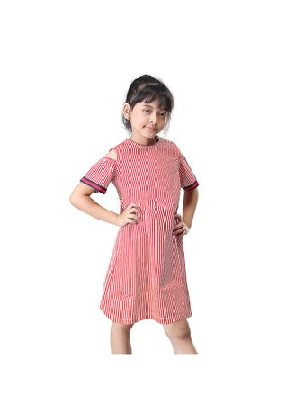 Red color Dresses . Anyshop.inc Dress Pakaian Anak Perempuan - Red -