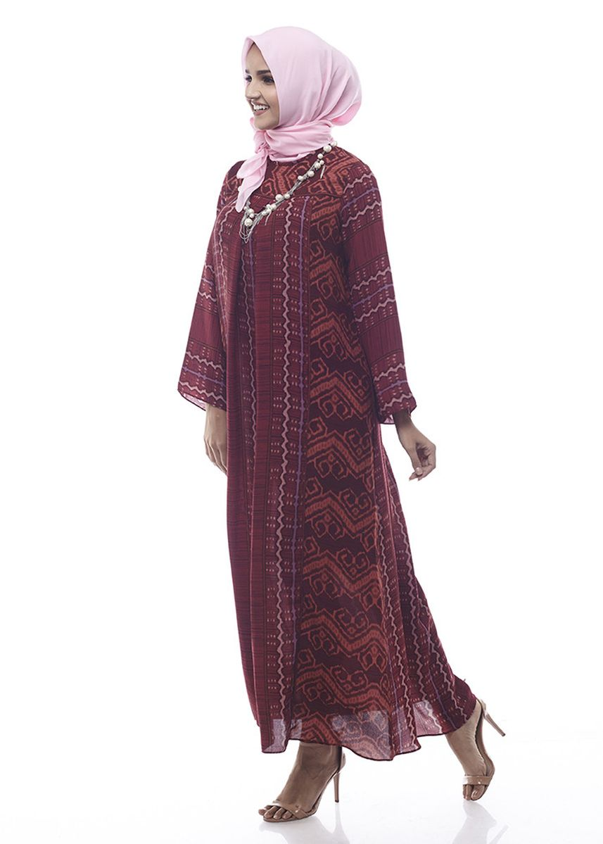 Maroon color Dresses . Sikka by Aisaa - Gamis -