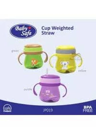Multi color Botol Susu . BabySafe Botol Minum anak Cup with weighted straw 300ml -