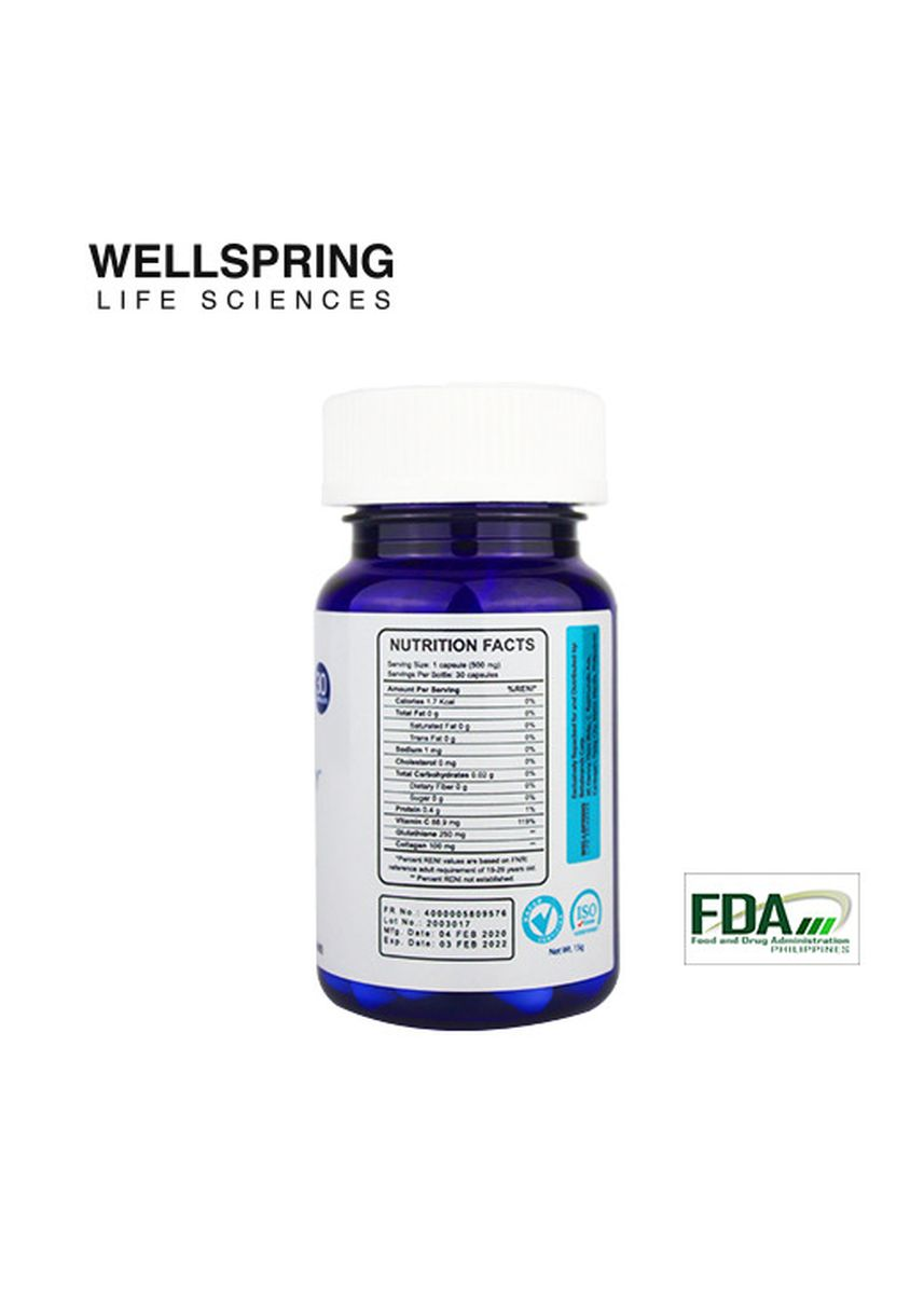 No Color color Beauty Supplement . Wellspring Life Sciences Active Beauty Supplement, 500mg -
