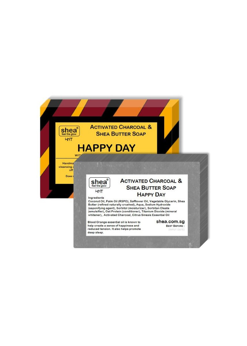 No Color color Body Wash . Charcoal Soap – Happy Day 100g -