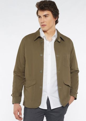 Olive color Jackets . Ines – Light Weight Utility Jacket -