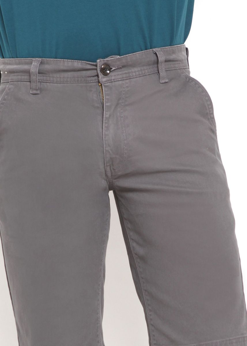 Grey color Shorts & 3/4ths . RBJ Celana Chinos Slim Fit Pria -