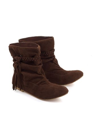Brown color Boots . Blackkelly Semi Boot Sepatu Wanita Flat - Brown -