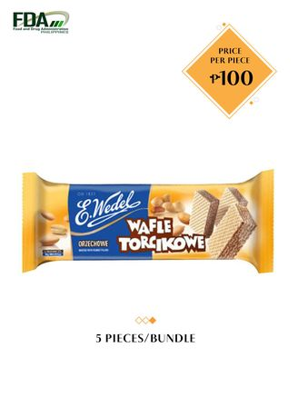 No Color color  . E. Wedel Mini Wafers with Peanut Filling, 160g Bundled by 5 -