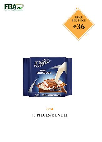 No Color color Chocolates & Candies . E. Wedel Milk Chocolate, 40g Bundled by 15 -