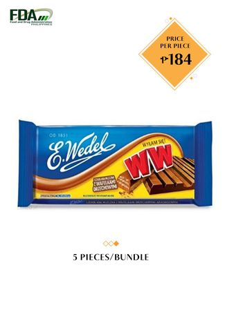 No Color color Chocolates & Candies . E. Wedel Milk Chocolate with Peanut Wafers, 245g Bundled by 5 -