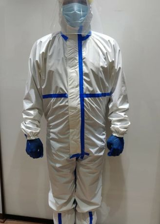 White color Kits . Personal Protective Kit with Reusable Coverall -