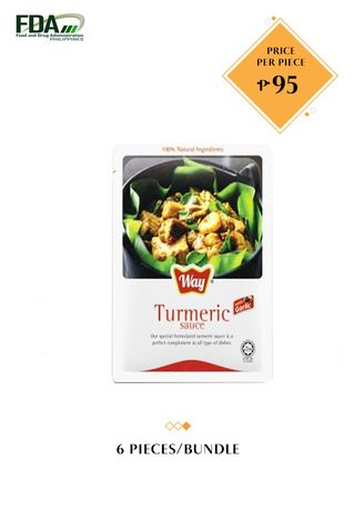 No Color color Snacks . Way Turmeric Sauce with Garlic, 100g Bundled by 6 -