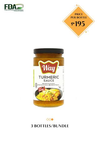 No Color color Snacks . Way Turmeric Sauce with Garlic, 200g Bundled by 3 -