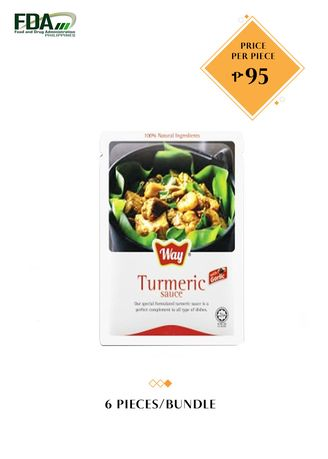 No Color color Snacks . Way Turmeric Sauce (Vegetarian), 100g Bundled by 6 -