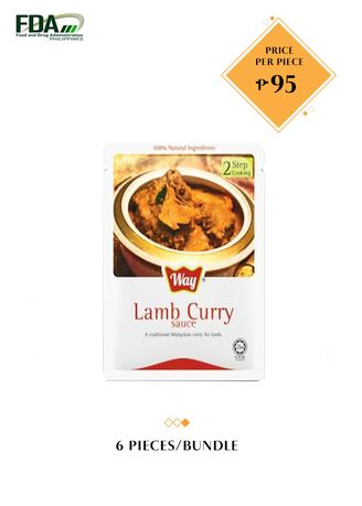 No Color color Snacks . Way Lamb Curry Sauce, 100g Bundled by 6 -