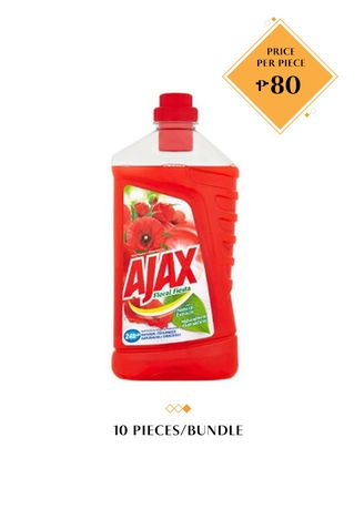 No Color color Washing & Cleaning . Ajax Floral Fiesta, 1L Bundled by 10 -