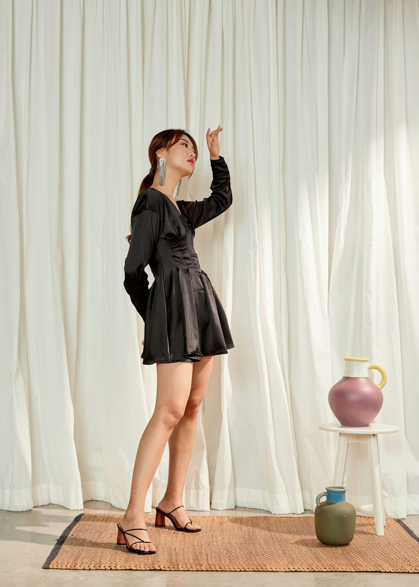 Black color Dresses . BASICTYPES Rosetta Dress -