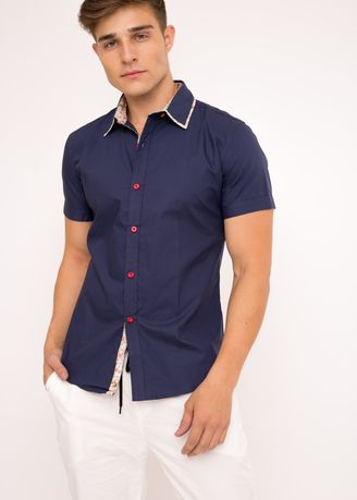 Navy color T-Shirts and Polos . BCL Men's Plain Casual Shirt -