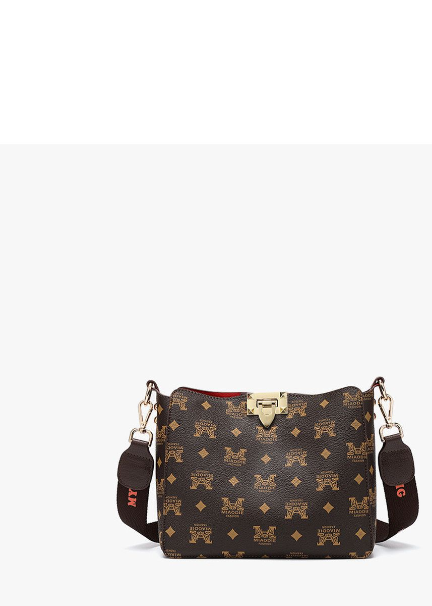Brown color Sling Bags . New Trend Fashion Printed Leisure Bucket Bag -