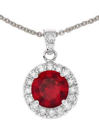 Red color  . Jewelry Buffet Pendant Design Vintage With Ruby Platinum Plate. -