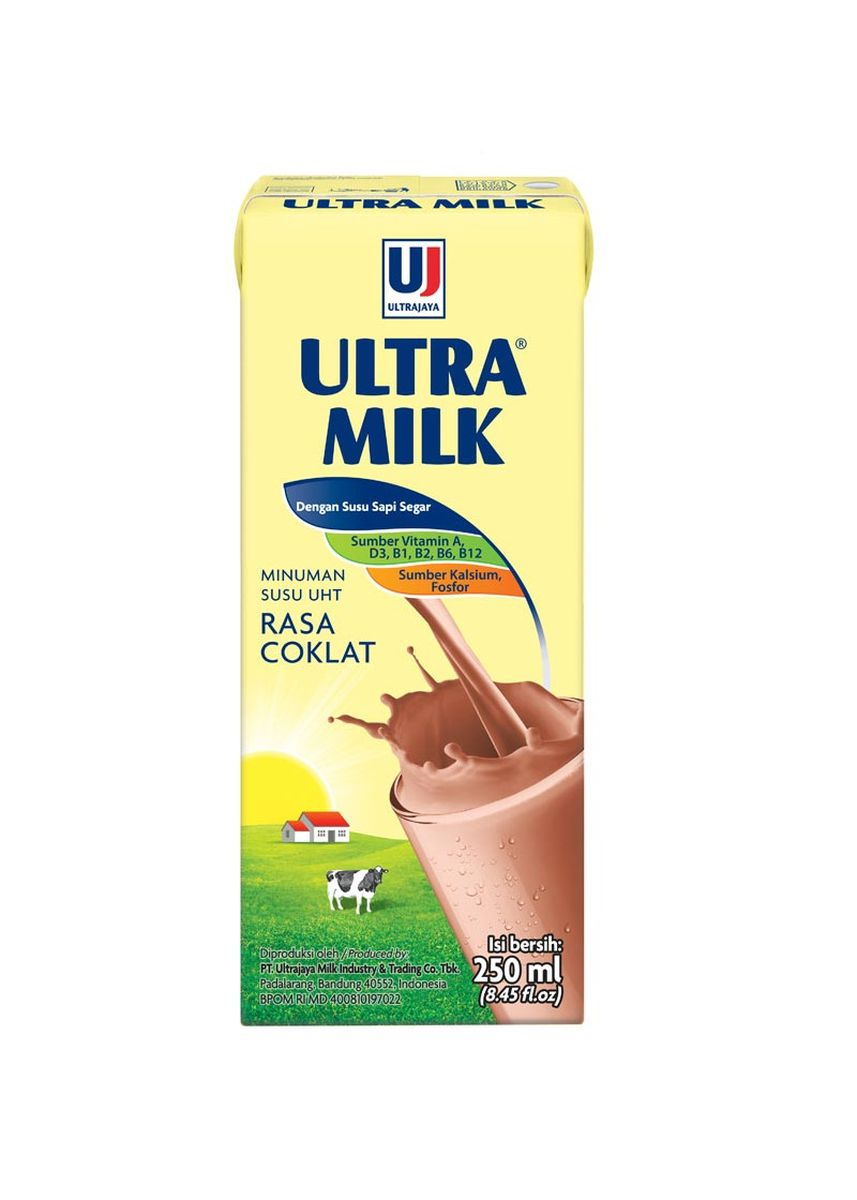 No Color color Milk . ULTRA SUSU SLIM CHOCO 250 ML -