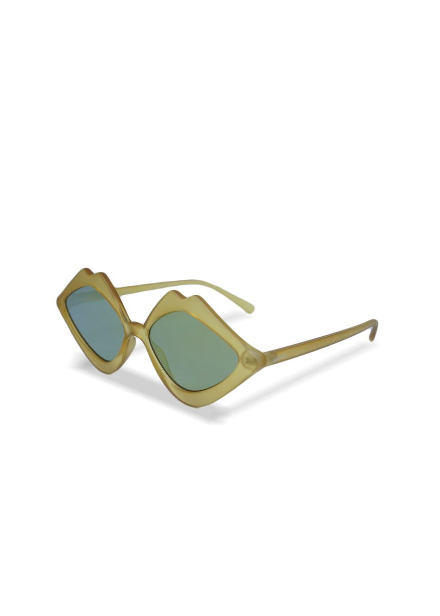 Yellow color Sunglasses . EyeMarie IVORIE Yellow Sunglasses -