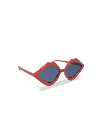Red color Sunglasses . EyeMarie IVORIE Red Sunglasses -