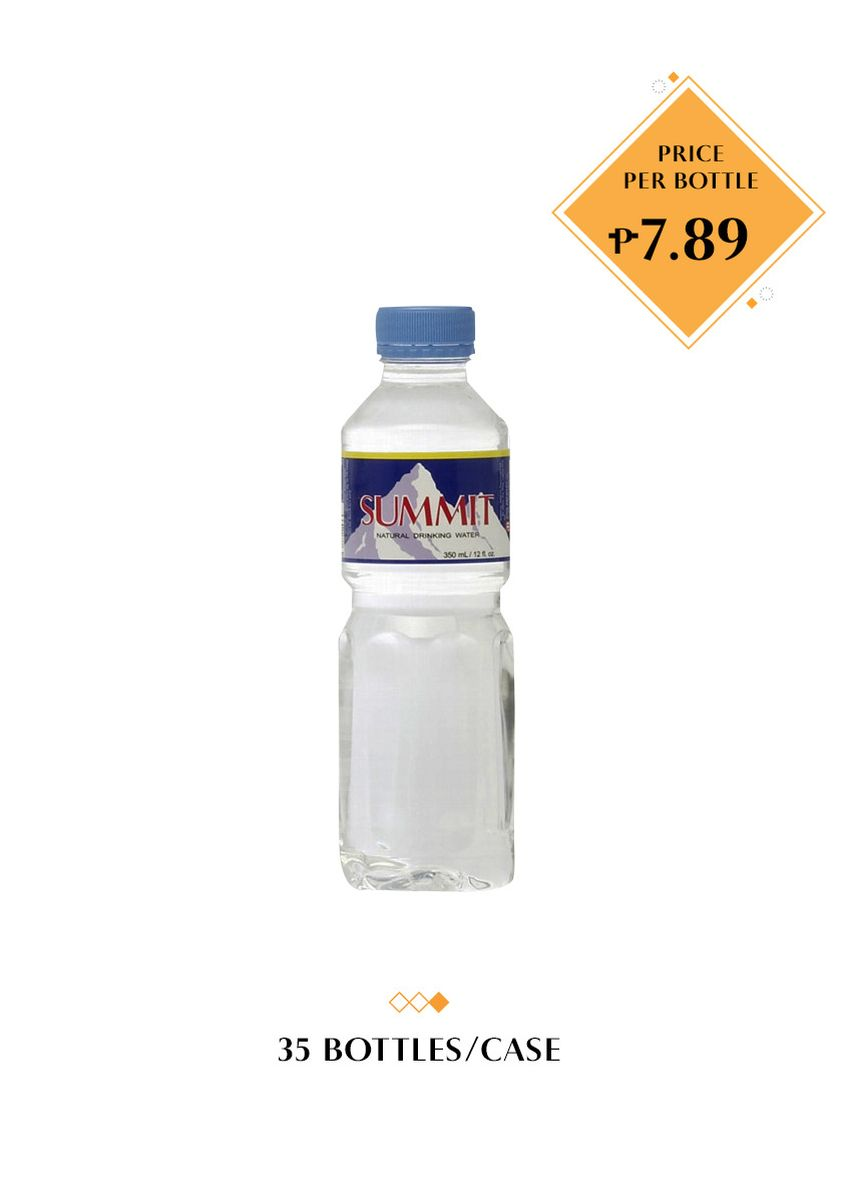 No Color color Water . Summit Natural Drinking Water, 350ml (35 Bottles/Case) -
