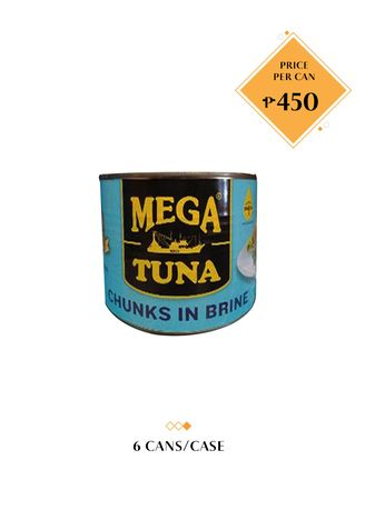 No Color color Canned Food . Mega Tuna Chunks in Brine, 1700g (6 Cans/Case)  -