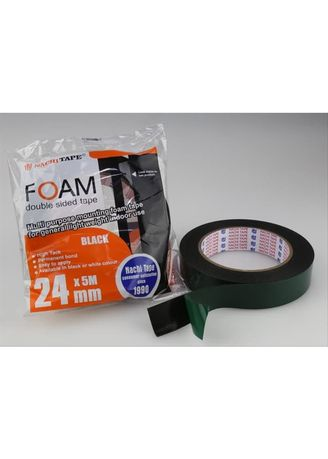 No Color color Tape, Adhesives & Fasteners . Isolasi Double Tape Foam Nachi 24 mm x 5 m -