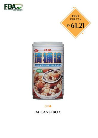 No Color color Snacks . Famous House Instant Ching Poo Luong, 370g (24 Cans/Box) -