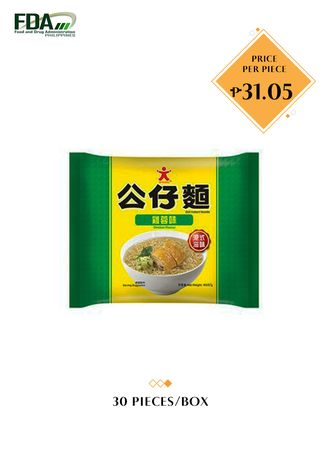 No Color color Snacks . Doll Instant Noodle - Chicken Flavor, 103g  (30 Pieces/Box) -