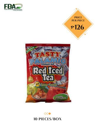 No Color color Health Drinks & Supplements . Tasty Palamig - Red Iced Tea, 500g/10L (10 Pieces/Box)  -