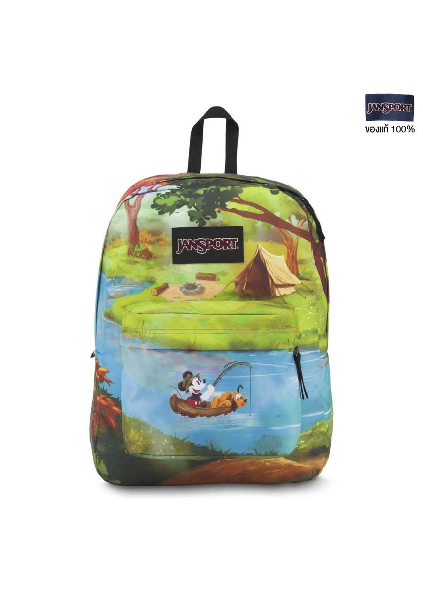 Green color Sling Bags . JANSPORT กระเป๋าเป้ รุ่น  JS0A3BB238E High Stakes-Disney Forest Camp -