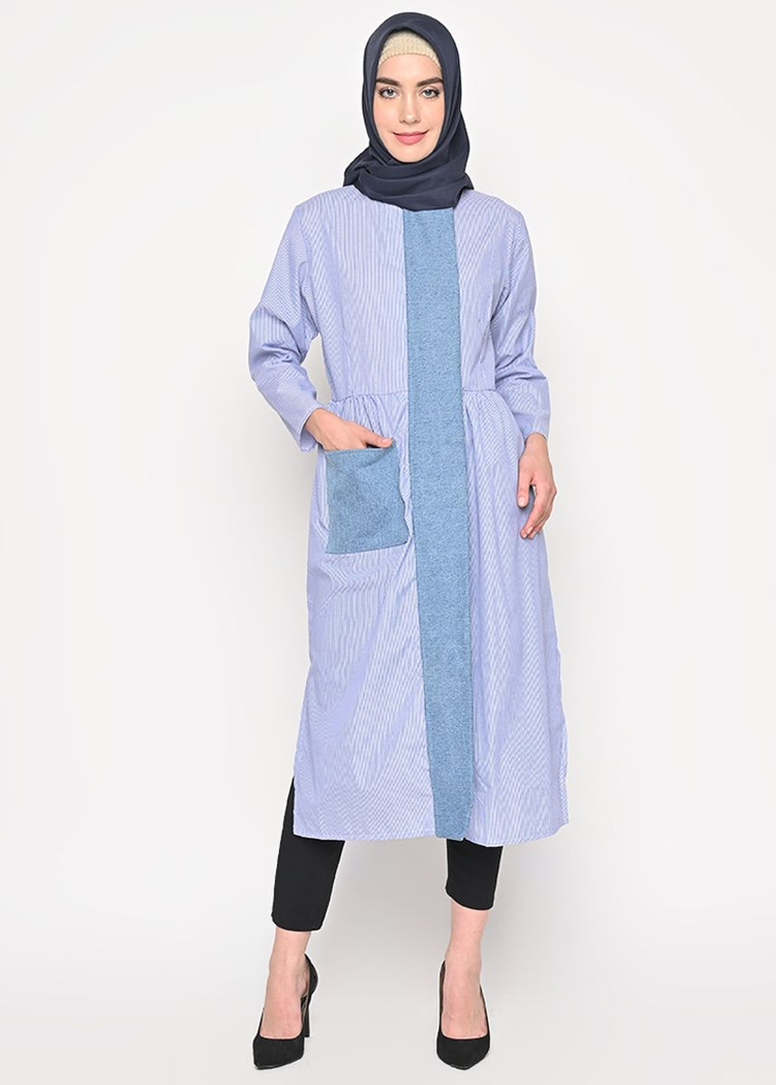 Blue color Dresses . Dira Tunik -