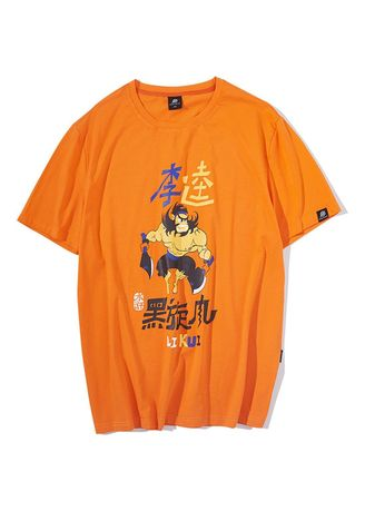 Orange color T-Shirts and Polos . Round Neck Tshirt -