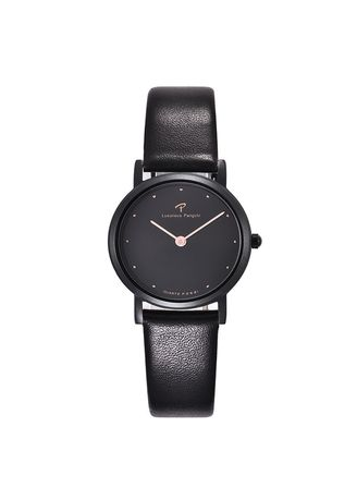 Black color Analog . Leisure Genuine Leather Band Womans  Watch -